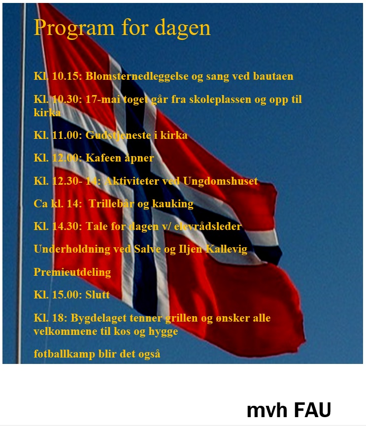 Program for dagen 17.mai 2019